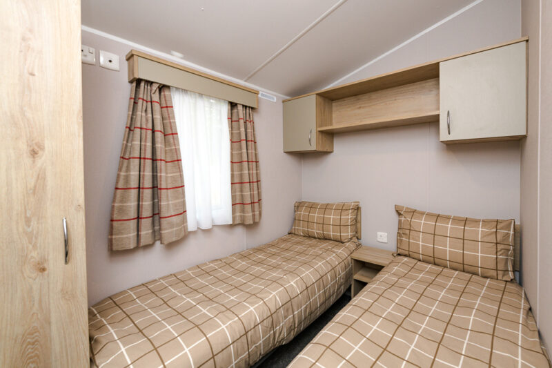 3-bed hire caravan holiday home twin