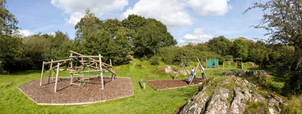 Park Cliffe Childrens Playground Pano Lake District