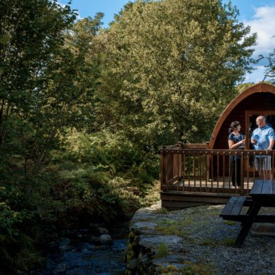 Streamside Camping Pod Park Cliffe Lake District
