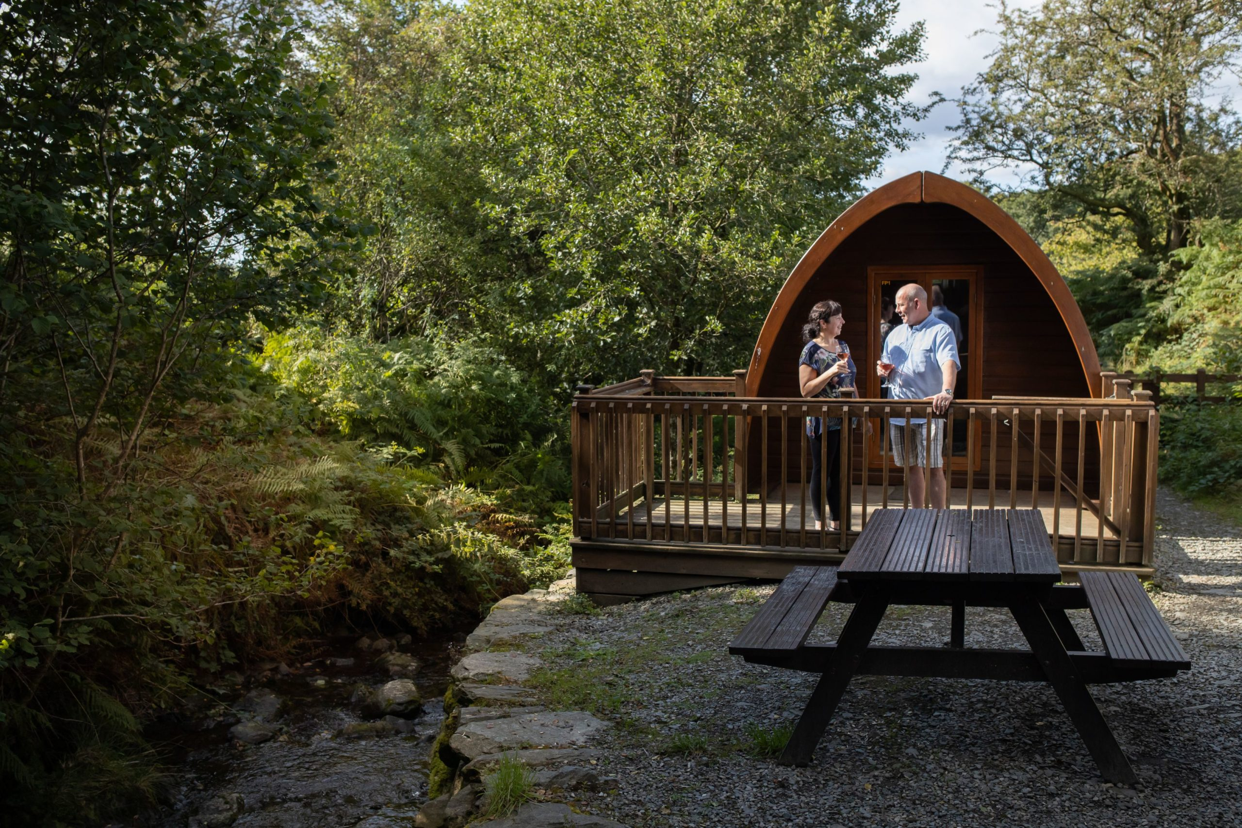 Streamside Camping Pod Park Cliffe Lake District