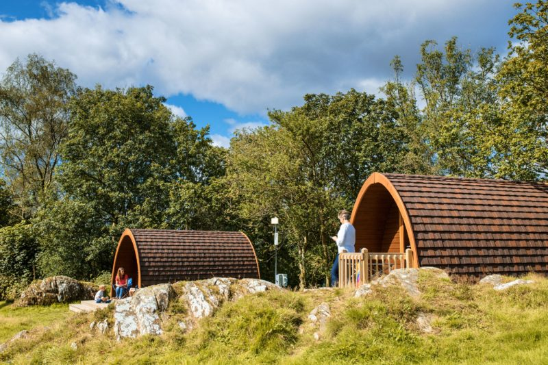 camping pod external landscape lake district