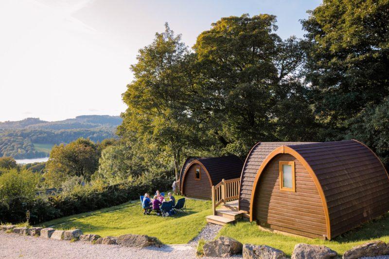 camping pod external lake district