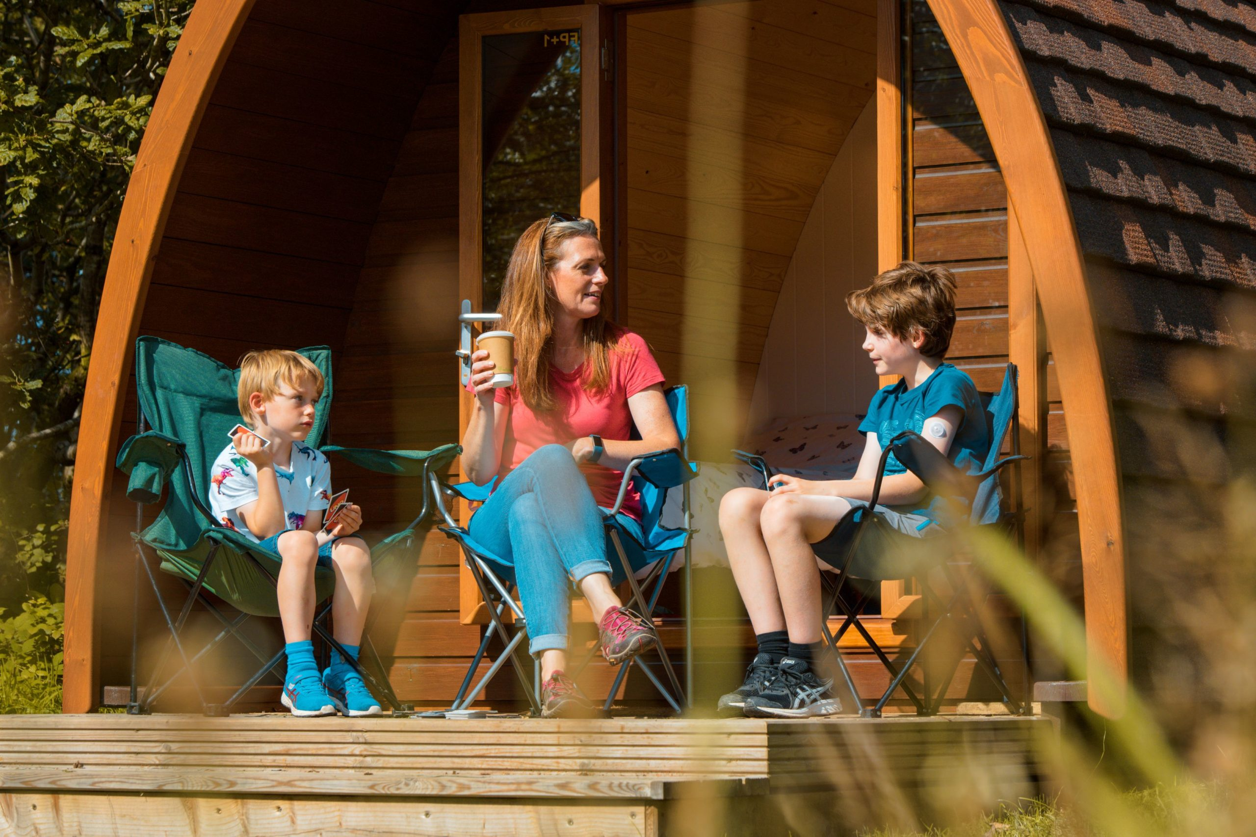 camping pods family external landscape2 Lake District