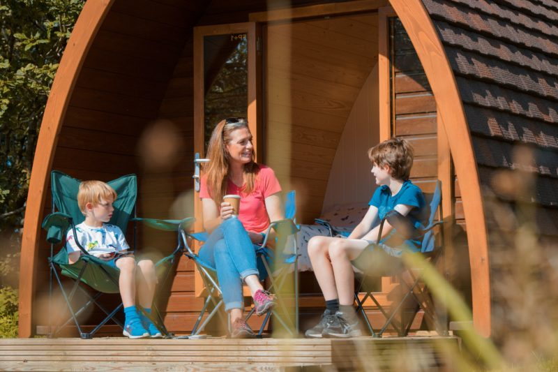 camping pods family external landscape3 Lake District