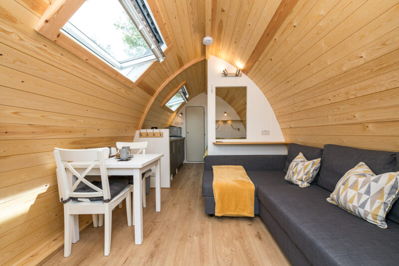 deluxe camping pod park cliffe