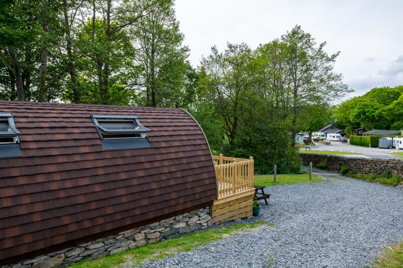 deluxe camping pod lake district campsite