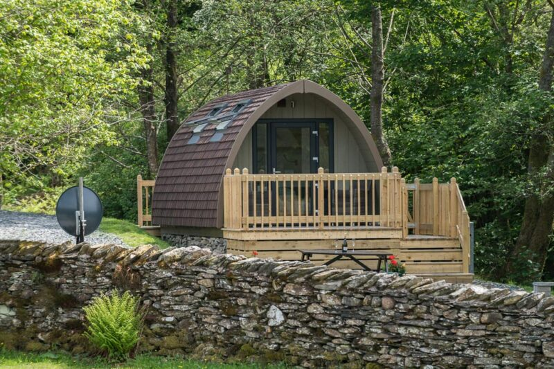 deluxe camping pod lake district holiday park park clifef