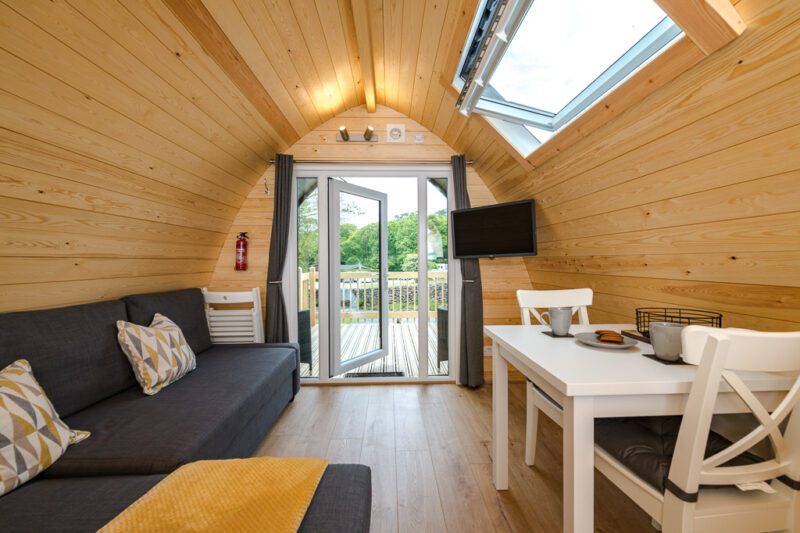 deluxe camping pod living