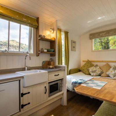 shepherds hut internal Lake District