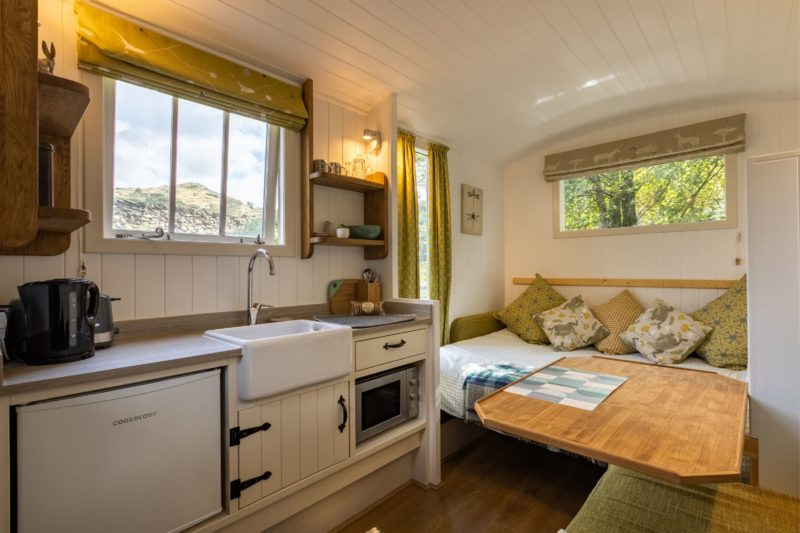 shepherds hut internal Lake District