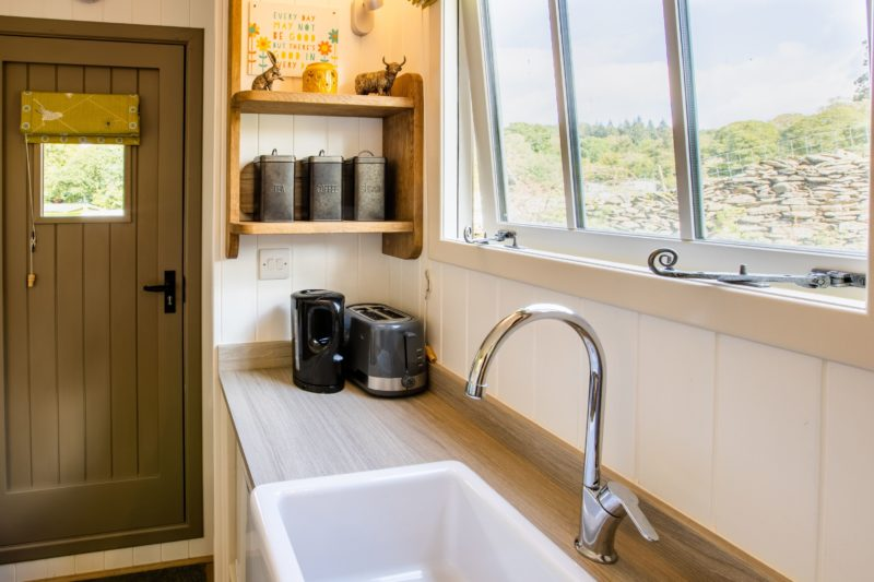 shepherds hut kitchen Lake District