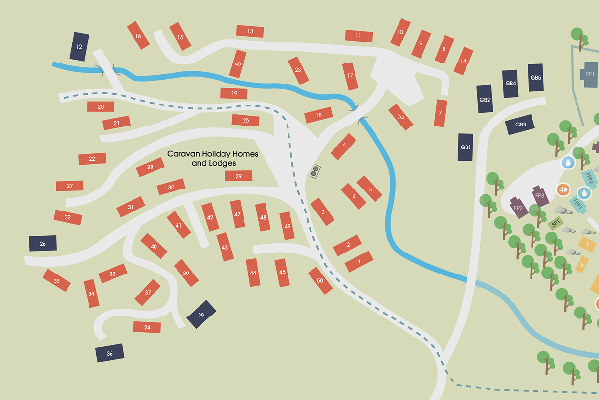 Park Cliffe Static Caravan Site Map