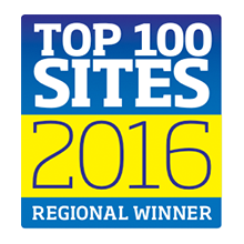 Regional Winner Top 100 sites Logo