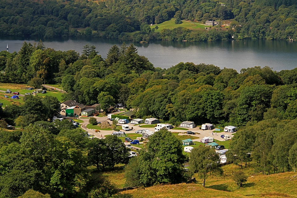 Park Cliffe Lake District Camping Lake View