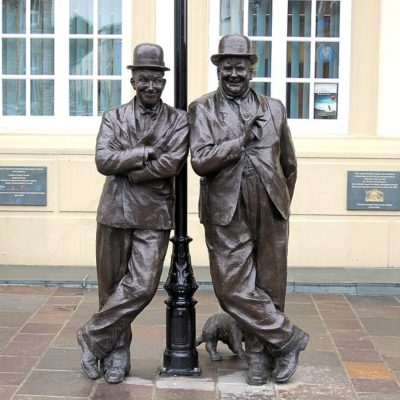 Laurel and Hardy Statue. Near the Laurel and Hardy museum.