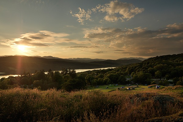 Park Cliffe Lake Windermere Sunset
