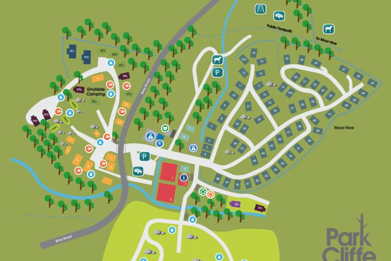 park cliffe site map