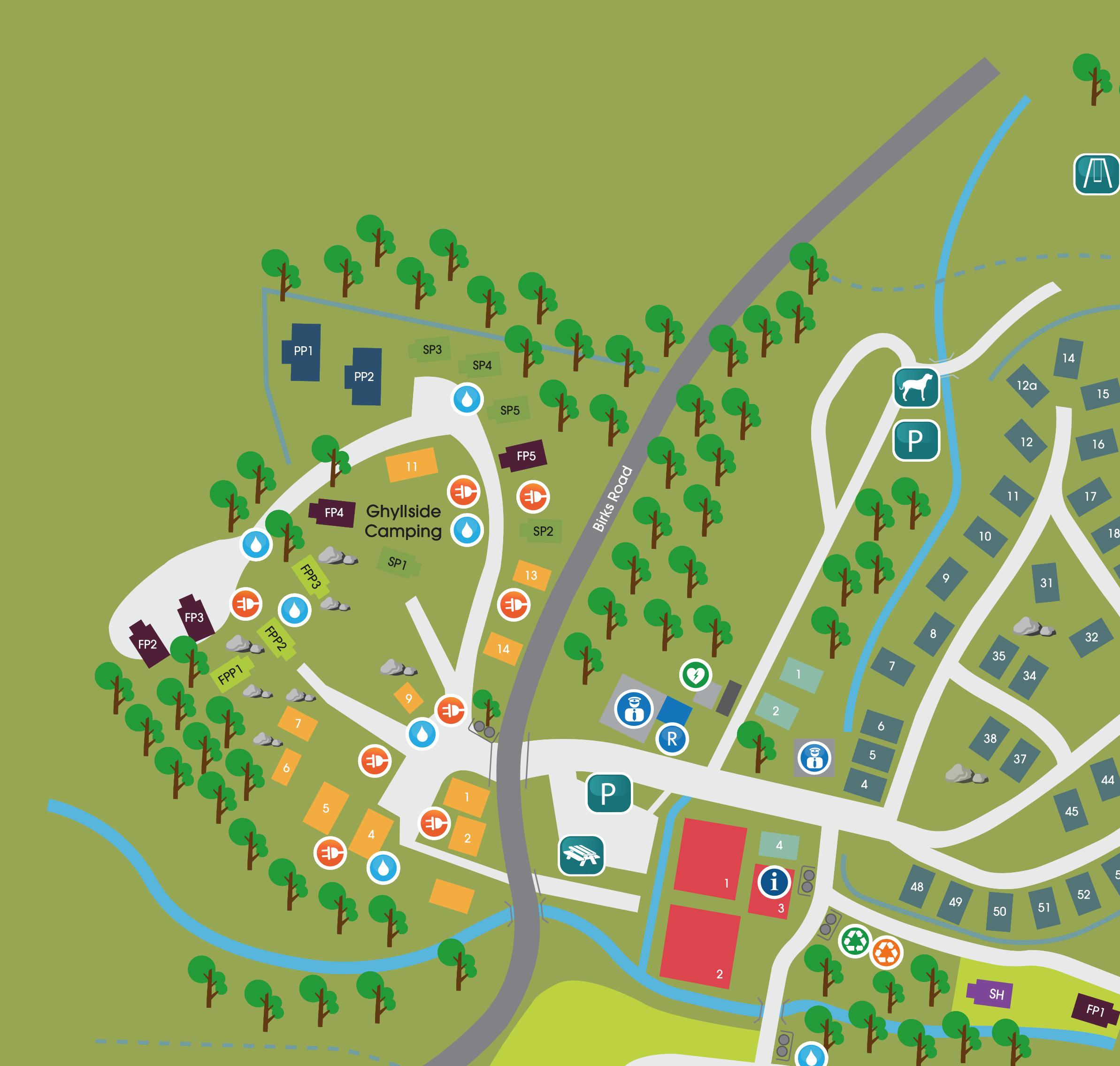 ghyllside campsite map