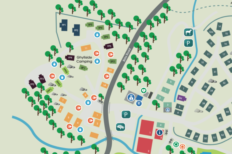 ghyllside camping park map