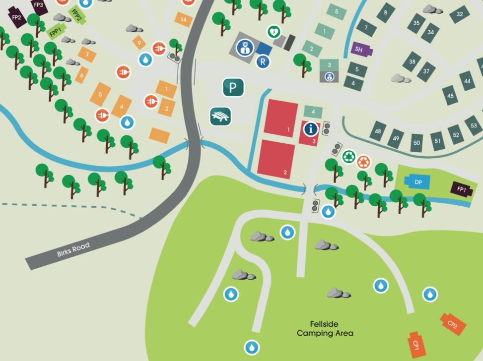 fellside camping map
