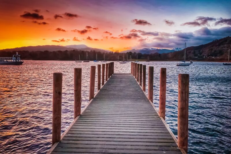 Lake District Lake Windermere Jetty