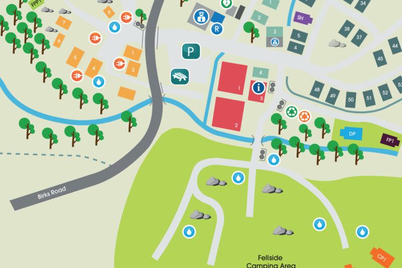 fellside campsite map